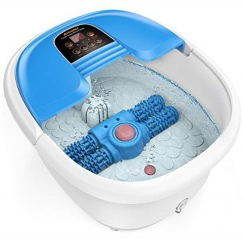 Arealer Foot Spa Bath Massager with Automatic Foot Massage Rollers