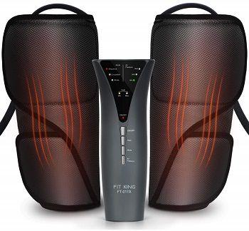FIT KING Leg Massager for Circulation Heat 3 Modes 3 Intensities